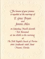 Allen invitation